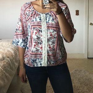 DINA BE flower pattern blouse
